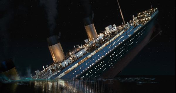 "In this film image released by Paramount Pictures, a scene is shown from 3-D version of James Cameron's romantic epic ""Titanic."" (AP Photo/Paramount Pictures)"
