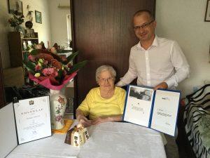 95 esztendős hölgyet köszöntött a város alpolgármestere